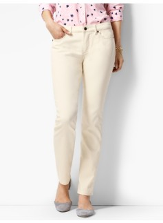 The Flawless Five-Pocket Ankle-Curvy/Vanilla Wash