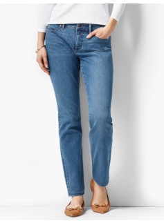The Flawless Five-Pocket Slim Ankle - Curvy/Lagoon Wash