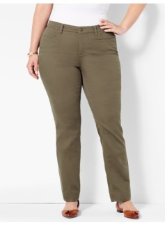 The Flawless Five-Pocket Straight-Leg - Olive Moss