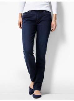 The Flawless Five-Pocket Straight-Leg Curvy - Portside Wash