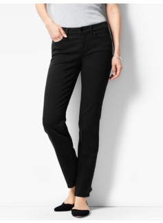 The Flawless Five-Pocket Slim Ankle -Curvy/Black