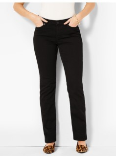 The Flawless Five-Pocket Straight-Leg-Curvy/Black