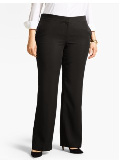 Woman Refined Crepe Wide-Leg Pant