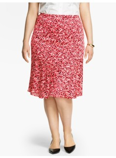 Raining Dots Flounced Skirt
