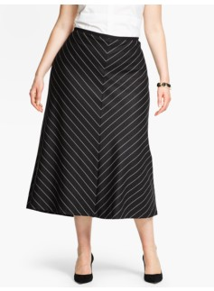 Mitered Stripes Riding Skirt