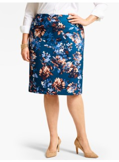 Edgemont Floral Pencil Skirt