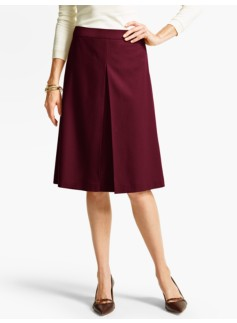 Italian Flannel Pleated Skirt