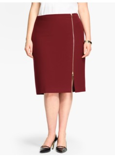 Double-Weave Pencil Skirt