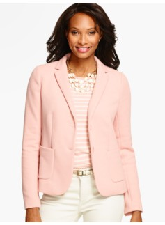 Honeycomb-Knit Blazer