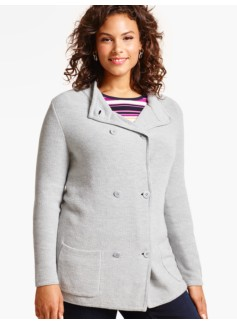 Textured Stand-Collar Jacket