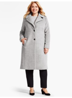 Single-Breasted Luxe Brushed Wool Coat