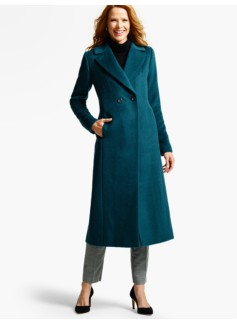 Double-Breasted Luxe Brushed Wool Coat