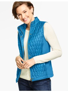 Quilted & Ribbed Vest