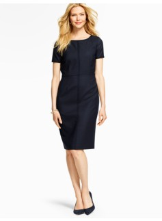 Vintage Dot-Jacquard Sheath Dress