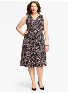 Pleats & Pintucks Dress - Animal Print