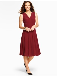 Pleats & Pintucks Dress