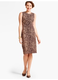 Ponte Sheath-Animal-Print