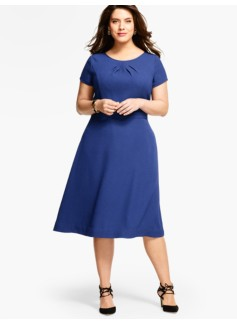 Dot-Textured Cloqu� Dress