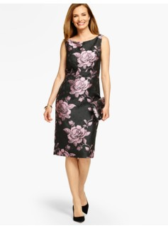 Rose Jacquard Sheath