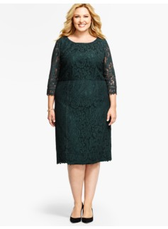 Leaf Lace Sheath Dress