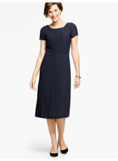 Piped Georgette Sheath - Indigo
