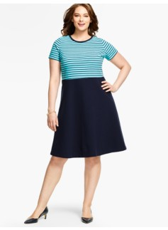 Edie Dress- Stripes & Colorblocked