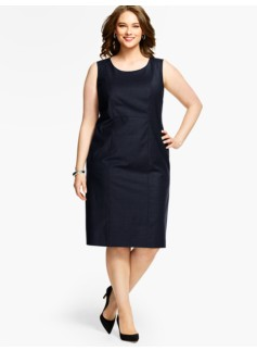 Womans Seasonless Wool Sheath Dress