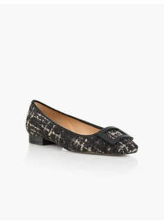 Avery Buckle Flats - Tweed Boucl�