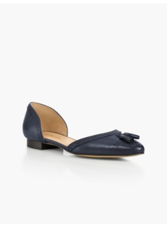 Edison Tassel D'Orsay Flats - Leather