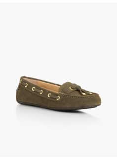Easton Grommet Driving Moccasins-Silk-Suede