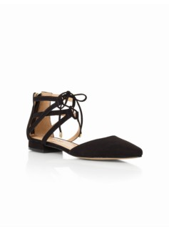Edison Ankle-Tie Flats- Suede