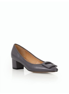 Fiana Buckle Pumps- Pebbled Leather