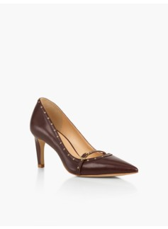 Eri Grommet Pumps-Leather