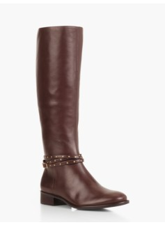 Tish Grommet-Strap Riding Boots