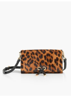 Tie-Flap Crossbody Wallet - Haircalf
