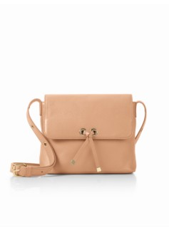 Tie-Flap Square Crossbody Bag