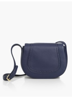 Spectator Crossbody Saddlebag-Indigo