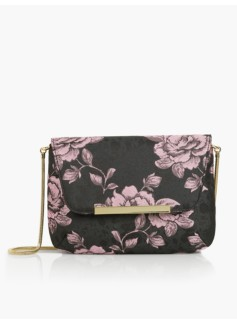 Doupioni Envelope Shoulder Bag - Rose Jacquard