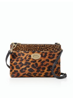 Turnlock Crossbody Bag - Leopard Haircalf