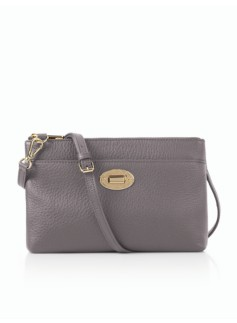 Turnlock Crossbody Bag - Pebbled Leather