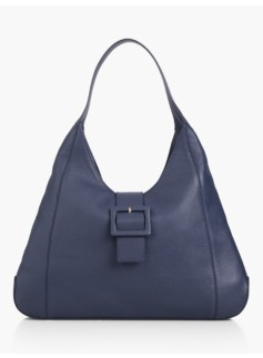 Buckle-Tab Hobo Bag