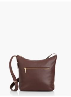 Pebbled Leather Slouch Hobo Bag
