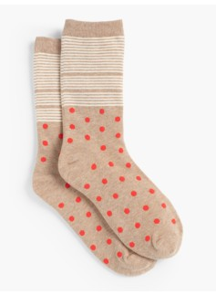Dot Stripe Trouser Socks