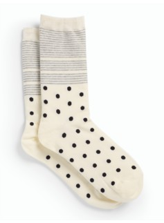 Dot Stripe Trouser Sock