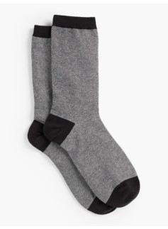 Womans Pinstripe Lurex Trouser Socks