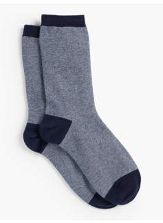 Pinstripe Lurex Trouser Socks
