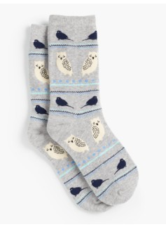 Stripes & Birds Trouser Socks