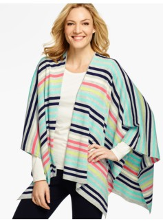 Stripes Ruana Wrap