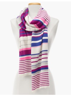 Mixed-Stripes Knit Scarf