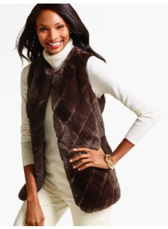 Quilted Faux-Fur Vest